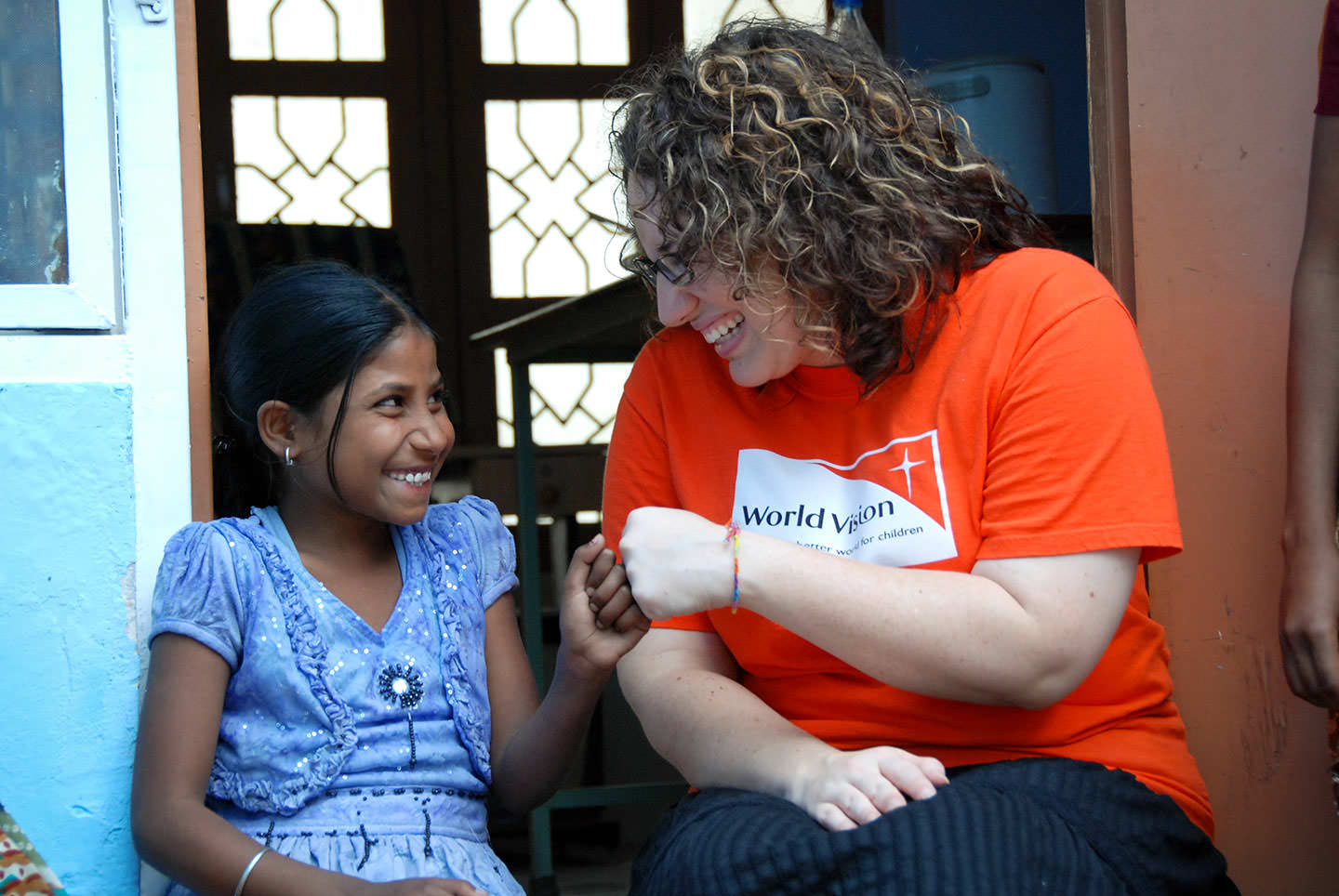 Andrea Zahler, a World Vision Child Ambassador and Brown House volunteer, traveled to Sitapur, India, to meet Laxmi.