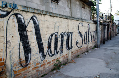 Graffiti done by the Mara Salvatrucha