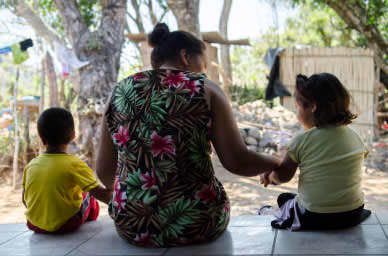 Life is difficult for Maria, without her husband to help her care for their children — especially when fear forces her to stay inside most of the time.