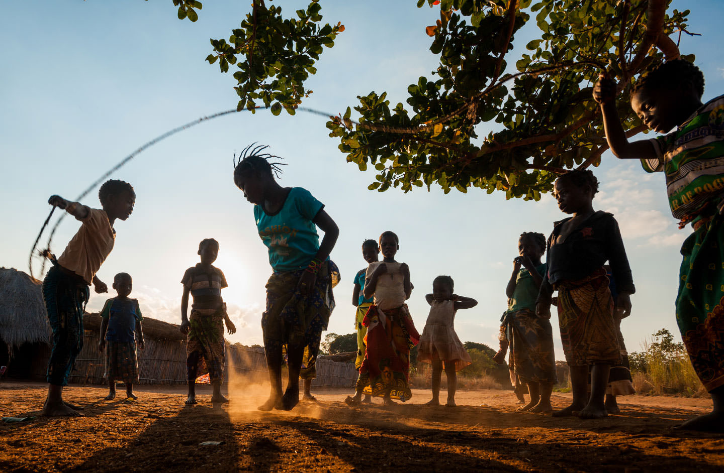 While playing with her friends, the last thing on Delfina's mind is malaria.