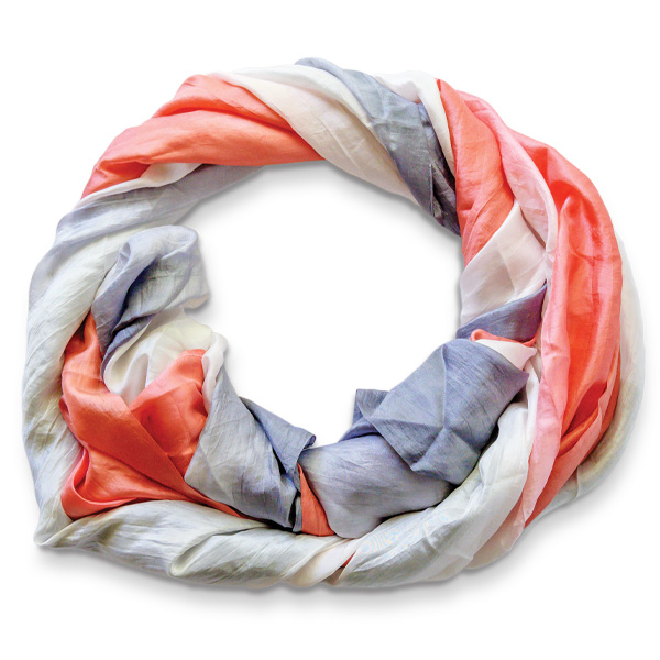 """""""Wrapped in Hope"""" dip-dyed 100% silk scarf by Patricia Heaton"""