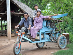 Phin Hen is one entrepreneur among many in Cambodia who have benefited from microloans through World Vision.